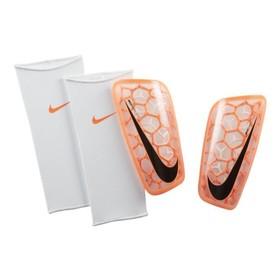 Футбольные щитки Nike Mercurial Flylite White/Orange/Black