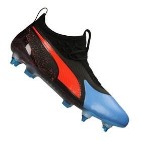 Бутсы Puma One 19.1 MX SG Black/Blue/Red