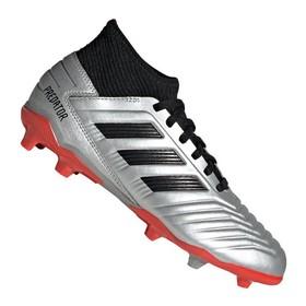 Детские бутсы adidas Predator 19.3 FG/AG Silver/Black/Red