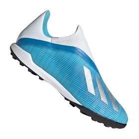 Сороконожки adidas X 19.3 TF Laceless Bright Cyan/Silver
