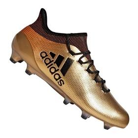Бутсы Adidas X 17.1 FG Gold/Black/Red