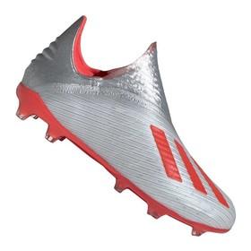Детские бутсы adidas X 19+ FG/AG  Silver/Red/White