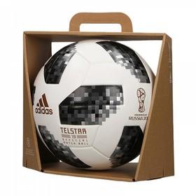 Футбольный мяч adidas Telstar 18 World Cup OMB White/Black/Silver