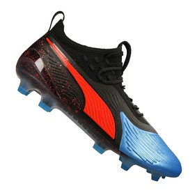 Бутсы Puma One 19.1 FG/AG Black/Blue/Red