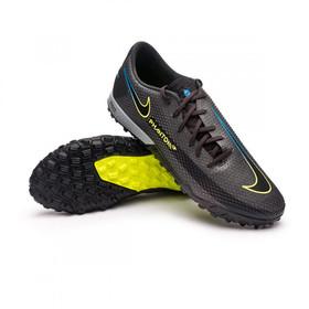 Сороконожки Nike Phantom GT Pro TF Black/Cyber Yellow/Lite Photo Blue