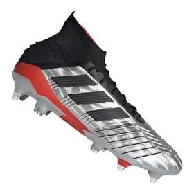 Бутсы adidas Predator 19.1 SG Silver/Black/Red