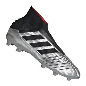 Детские бутсы adidas Predator 19+ FG/AG Silver/Black/Red