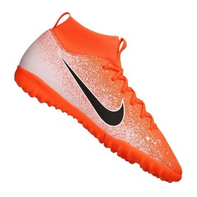 Детские сороконожки Nike Mercurial Superfly VI Academy TF Orange/Black/White