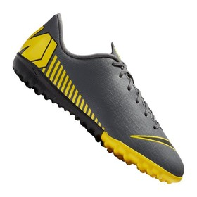 Детские сороконожки Nike Mercurial Vapor XII Academy TF Dark Grey/Yellow