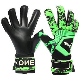 Вратарские перчатки PUMA One Grip 1 Hybrid Hacked Black/Grey/Green