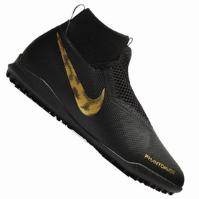Детские сороконожки Nike Phantom Vision Academy DF TF Black/Gold