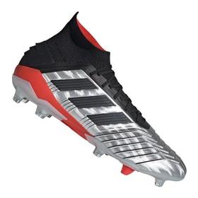 Бутсы adidas Predator 19.1 FG/AG Silver/Black/Red