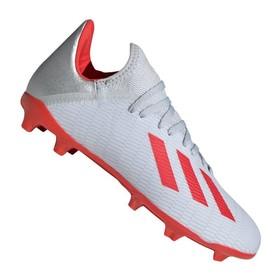Детские бутсы Adidas X 19.3 FG/AG Silver/Red/White