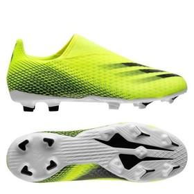 Бутсы Adidas X Ghosted.3 Laceless FG/AG Solar Yellow/Core Black/Royal Blue