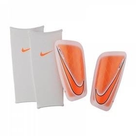Футбольные щитки Nike Mercurial Lite White/Orange