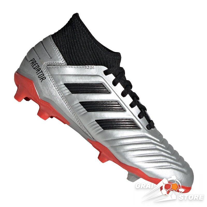 38984cd6 Детские бутсы adidas Predator 19.3 FG/AG Silver/Black/Red
