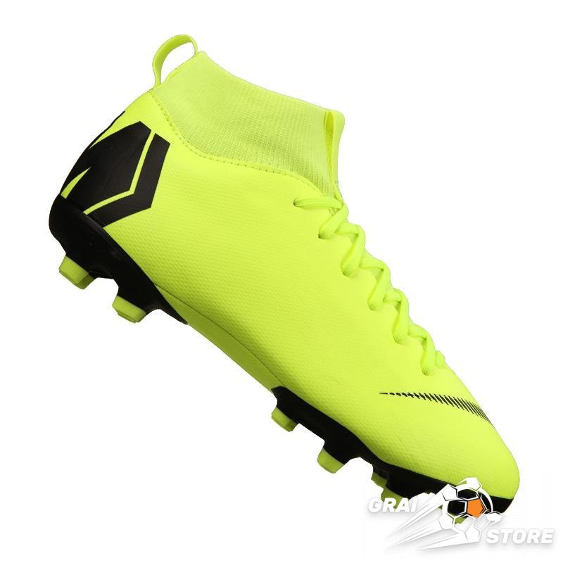 2e616065 Детские бутсы Nike Mercurial Superfly VI Academy MG Light Green/Black